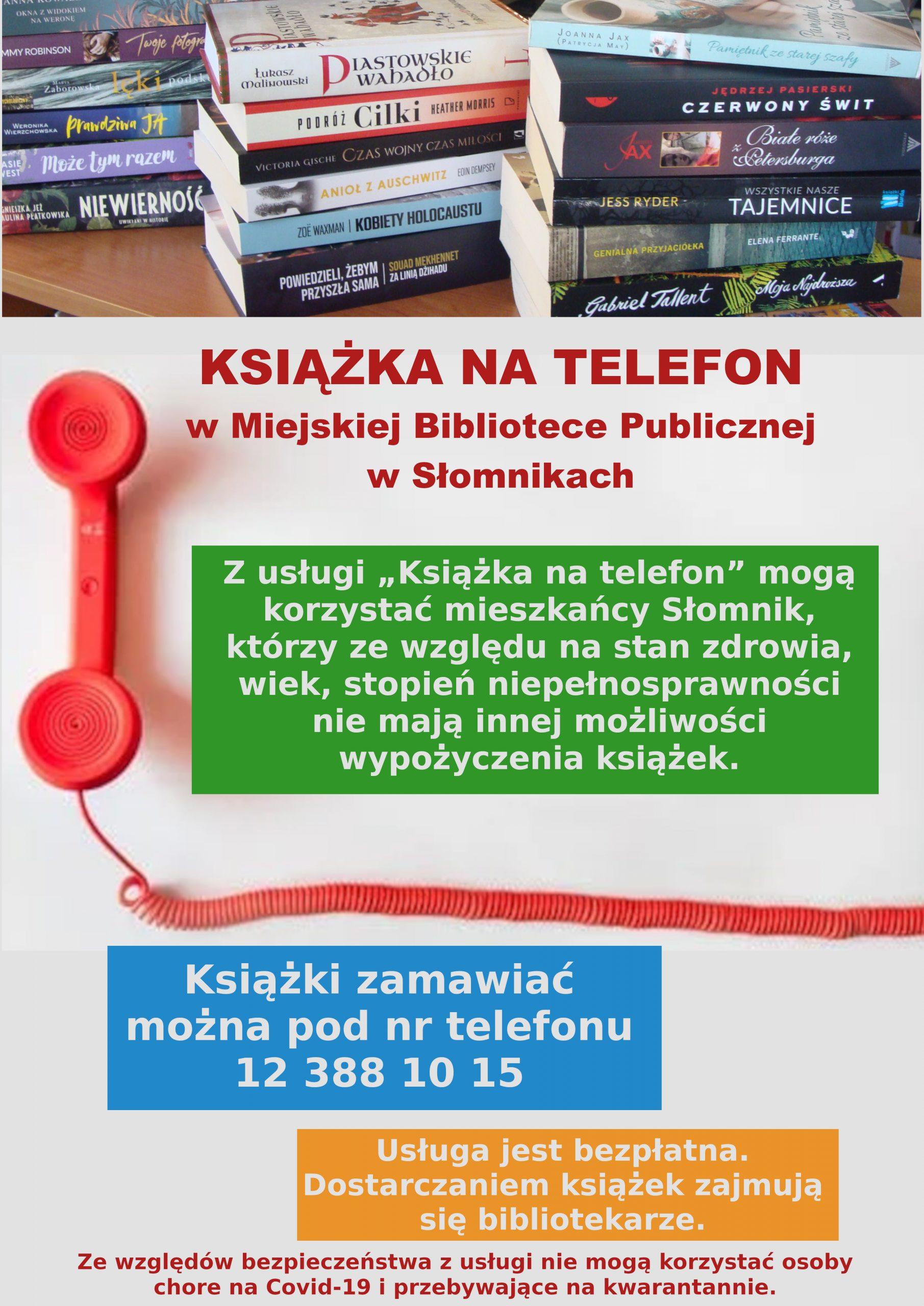 Ksiażka na telefon-plakat